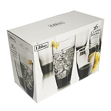 Libbey Classic Smoke 16-piece Drinkware Glass Set
