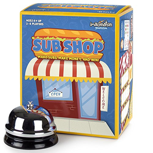 Sub Shop Board Game | Classic Sandwich Building Card Game for Families | Family Fun Tabletop Strategy & Memory Card Game for Kids & Adults of All Ages | Home & Restaurant Table Activity