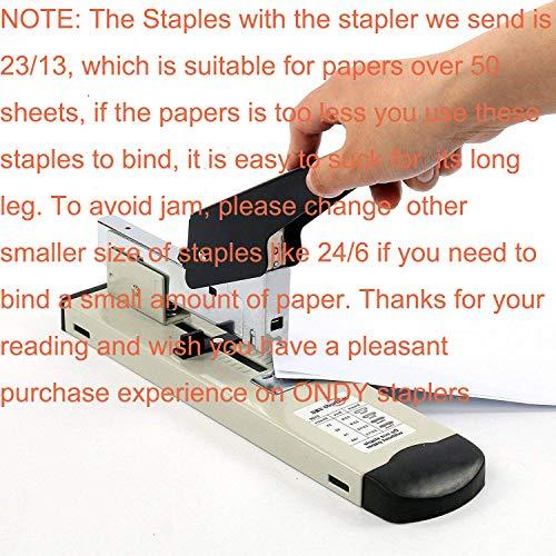 ONDY Heavy Duty Stapler with 1000 Staples, 100 Sheet High Capacity, Office Stapler, Desk Stapler, Big Stapler, Paper Stapler, Commercial Stapler, Large Stapler, Industrial Stapler, Heavy Stapler Photo #7
