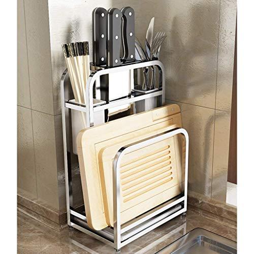 NFGHK Multifunktionaler Geschirrtrockner aus Edelstahl 304, Küchenmesserhalter Schneidebretthalter Essstäbchenhalter