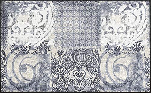 wash+dry Fußmatte Arabesque, 75x120 cm, Innen und Außen, waschbar, Grau