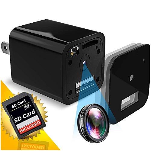 Hidden Mini Spy Camera | 1080P Full HD | Charger | Has Motion Detection | Loop Recording | Flash...