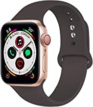 Mucson Compatible for Watch Band 42mm 44mm Womens Mens Replacement Soft Silicone Sport iWatch Strap Series 4 Series 3 2 1 Strap Nike Sport Editions Wristbands Coco