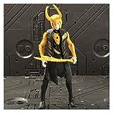 LANMEISM Figura de acción Guerra película Anime Black Panther Capitán América Ironman Spiderman Hulk Superhéroe Figura de acción Juguetes (Color : Loki)
