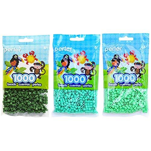 Perler Bead Bag Green Group (Dark Green, Light Green, Pastel Green)