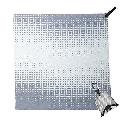 "PackTowl Nano Towel, Grey Pixel, 19"" x 19"""