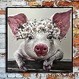 AJleil Puzzle 1000 Piezas Arte Divertido Pintura de Animales Arte Pop Art en Juguetes y Juegos Educativo Divertido Juego Familiar para niños adultos50x75cm(20x30inch)