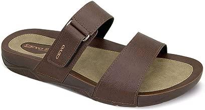 Ceyo Brown Flat Sandal For Men