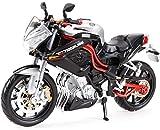 Toy model Juguete para motocicleta, modelo de locomotora de carretera 1/12, el mejor regalo para niños y niños pequeños (color : Tnt)
