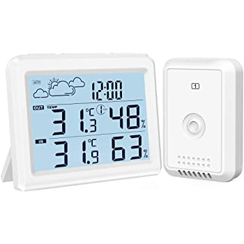 Thermometer Hygrometer Wetterstation f Schule Buero NEU fuer Zuhause Schu C5U8
