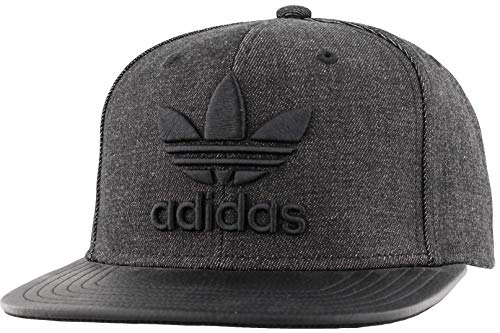 adidas Herren Trefoil Chain Flatbrim Snapback Cap, Herren, 201224, Denim/Schwarz, Einheitsgröße
