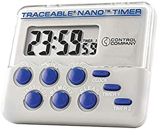 Traceable Nano Timer, Display 3/8 In. LCD - 5132, Pack of 2