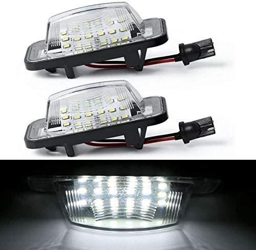 LOVELY Luces de matrícula de Coche 2pcs 18led License Number Plate Light Light Compatible con Daihatsu Move Possed Universal (Emitting Color : White)