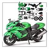 El Maquetas Coche Motocross Fantastico 1:12 para Kawasaki Ninja ZX-14R Montaje Construcción Motocicleta Rompecabezas Modelo Kit Colección Niño Regalo Coche Juguete Regalos Juegos Mas Vendidos