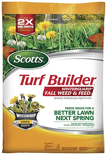 Scotts Turf Builder WinterGuard Fall Weed and Feed 3, 15,000 Sq Ft