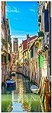 Posterdepot Papel pintado para puerta puerta Póster vacaciones en Venecia, canal entre multicolores Casas–Tamaño 93x 205cm, 1pieza, ktt0576