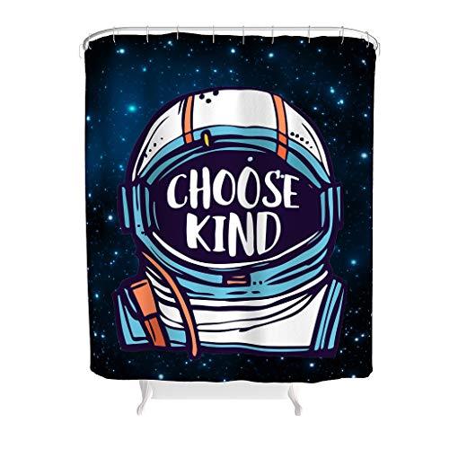 NC83 De NASA kiezen kunst grafische stijl douchegordijn personaliseren zonder chemische geur, badkuipgordijnhaken inbegrepen - cool voor badkuipen