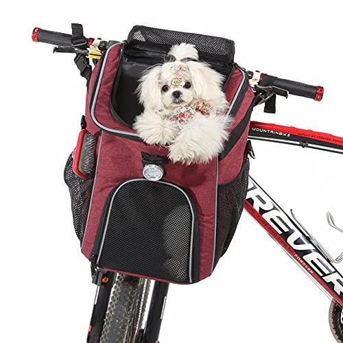 Mochila mascotas Mochila portadora de mascotas Mochila bicicleta de bicicleta bolsa de canasta gato perro plegable bolsa de portador para caminatas de viaje Camping de viaje para niños para perros peq