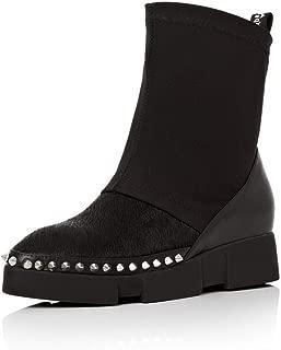 BalaMasa Womens Herringbone Comfort Beaded Leather Boots ABM13602