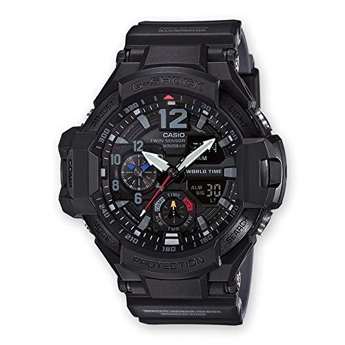 CASIO Herren Analog Digital Uhr mit Harz Armband GA-1100-1A1ER