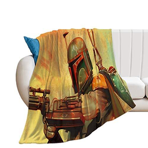 Manta de felpa suave de Star Wars The Mandalorian Temporada 2 Lucha de Navidad Decoración Manta 40 x 50 pulgadas 100 x 130 cm