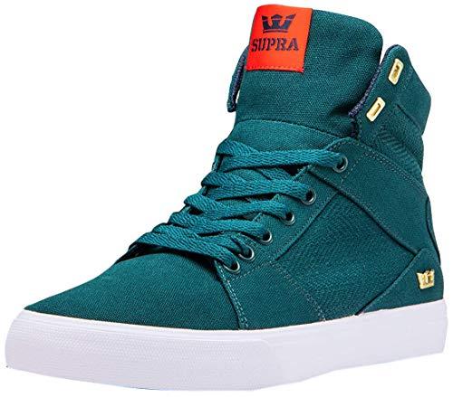 Supra Men's Skateboarding Shoes , Green Evergreen White M 3 , 8.5 US