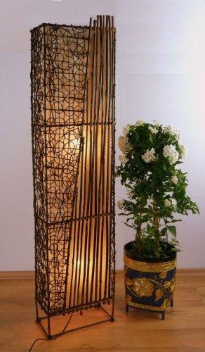 livasia Asiatische Designer Standleuchte aus Bambus Stehleuchte Stimmungslampe, Stehlampe aus Thailand