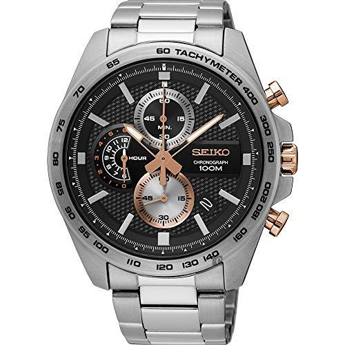 Seiko Orologio Cronografo Quarzo Uomo con Cinturino in Acciaio Inox SSB281P1