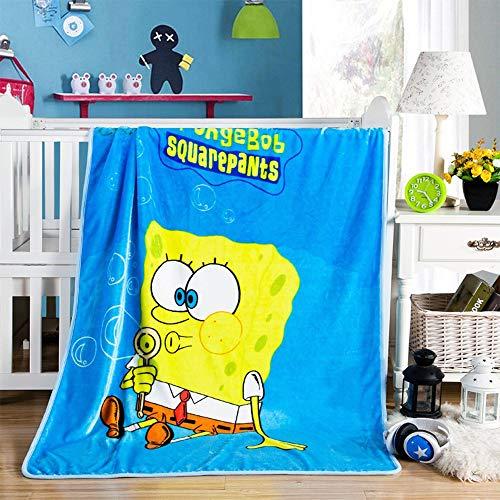 WINGSIGHT Spongebob Hello Kitty Kuscheldecke für Erwachsene und Babys, Plüsch-Fleece, Korallen-Samt, Flauschige Decke für Schlafzimmer, Bett, Couch, Stuhl, Wohnzimmer, Klimaanlage, kühle Decken