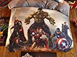 Juego de ropa de cama The Avengers The Avengers Juego de funda de edredón, el tejido para adultos infantil impresión digital 3D (Avengers-3, 135 x 200 cm + 80 x 80 cm x 2)