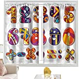 cortinas térmicas Matemáticas Aula Sala de clase, números dígitos W52 x L72 pulgadas cutainsforlivingroom
