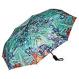 VON LILIENFELD Paraguas Bolsillo Plegable Vincent Van Gogh: Lirio Ligero Estable Apertura y Cierre Automático Resistente al Viento Compacto