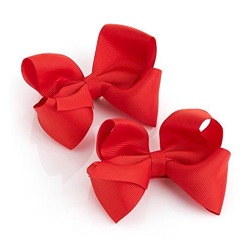 1 Paar rote Haarschleifen-Spangen für Mädchen
