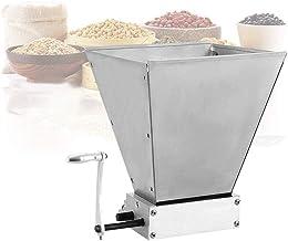 InLoveArts Moulin à grains à main, broyeur à malt d'orge à 2 rouleaux en acier inoxydable à réglage manuel, concasseur à g...