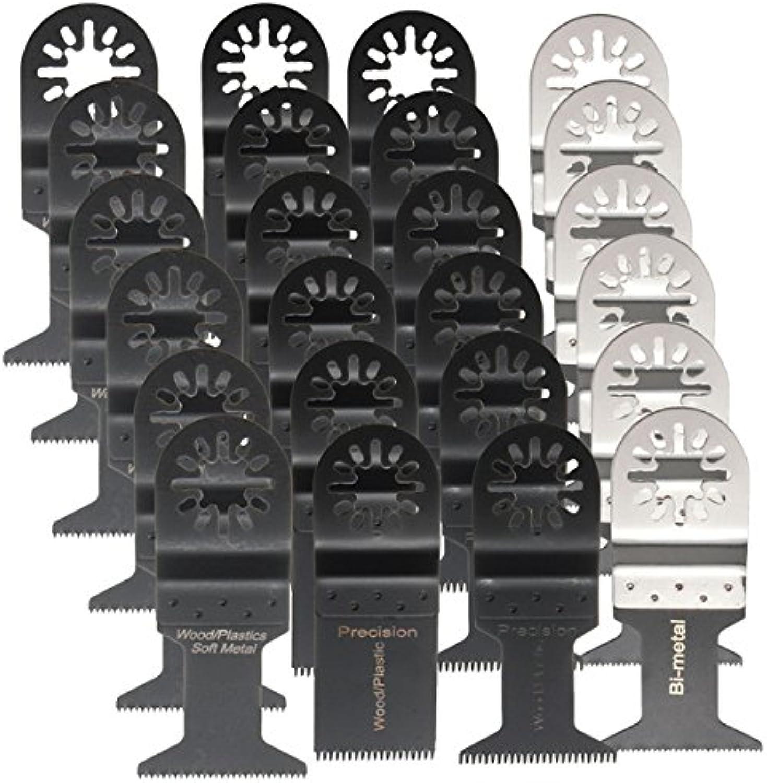 US Warehouse  24pcs Oscillating Multitool Saw Blades Set for Fein Multimaster Makita Bosch