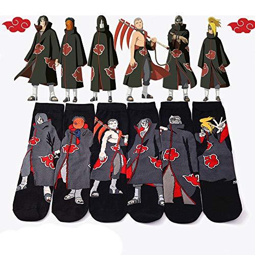 Levin_Art 6 Paare / Set Naruto Akatsuki Cosplay Requisiten Socke Uchiha Itachi Orochimaru Anime Frühling Herbst Socken Frauen Männer Halloween Party Geschenke