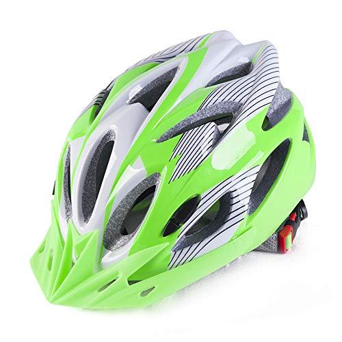 Fahrradhelm Integrierter Männlicher Und Weiblicher Mountainbike Fahrradhelm, Grün Und Weiß