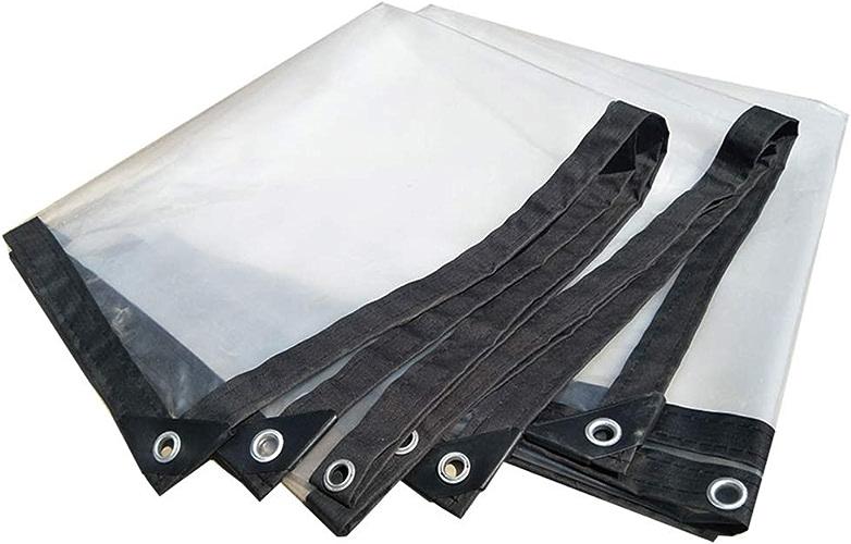 WHYDIANPU Tarpaulin Bordure épaississante Transparente perforée Feuille de Plastique imperméable Feuille de Balcon Film de Serre Culture Fleur Various Tailles