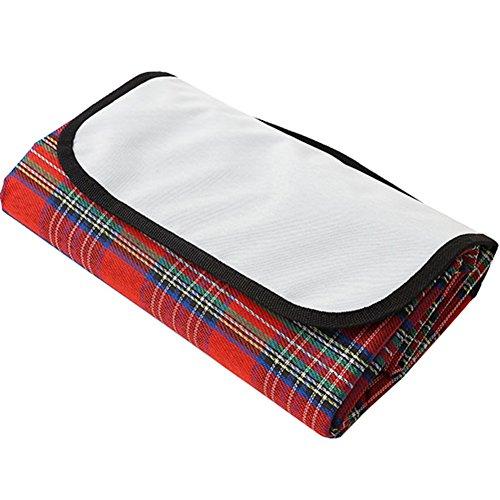 HM&DX Outdoor & Picknick Decke Wasserdicht Sichern Oxford Picknickdecke campingdecke Leicht Tragbare Handtaschen Gestreift Picknick-Matte Für Reisen Park strandhafer-rot 150x100cm(59x39inch)