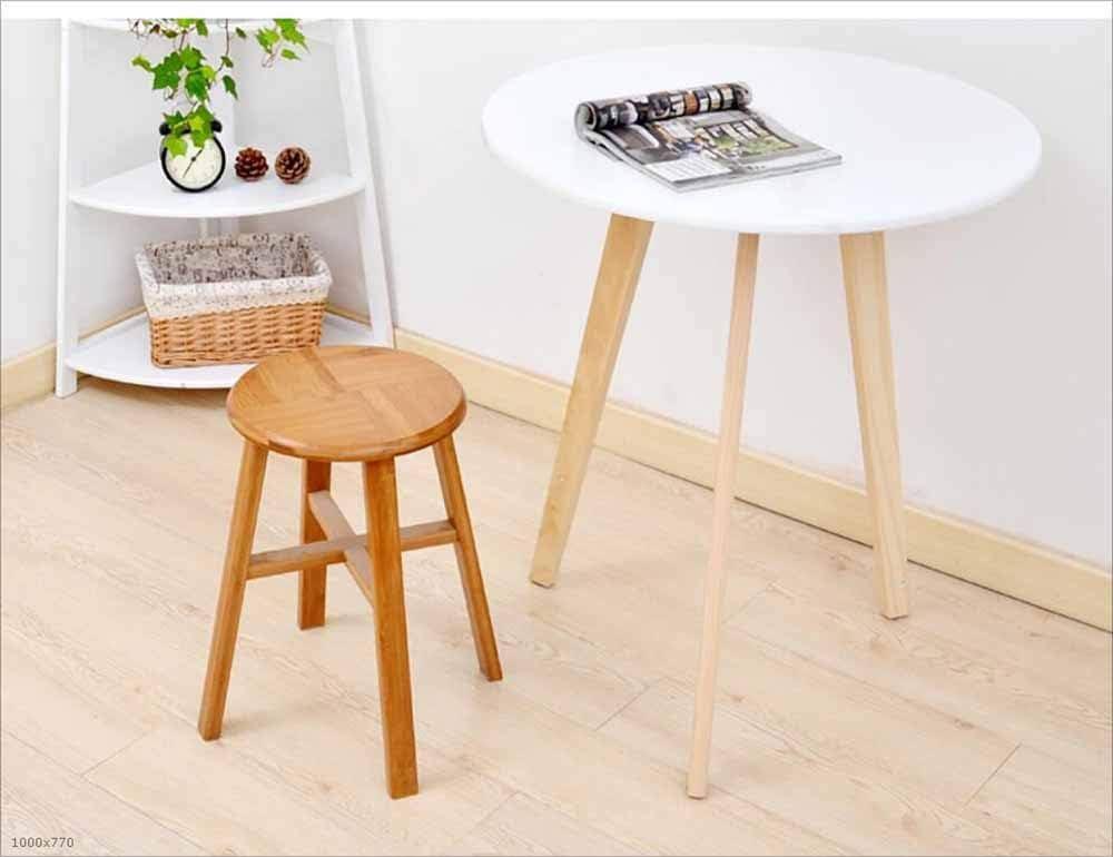 SZ JIAOJIAO Selles Tabouret Tabouret en Bambou Maison Salon Salle à Manger Tabouret de Table en Bois Massif,Round Round