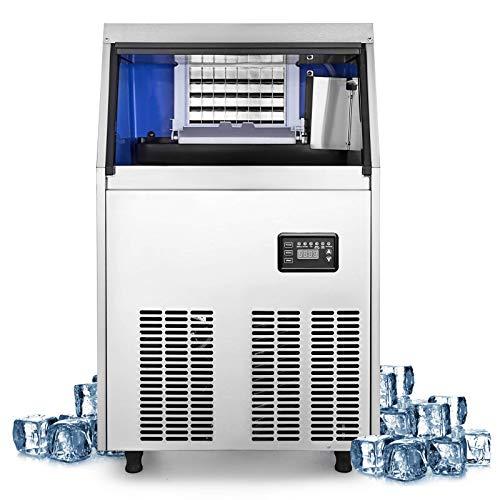 Comercial del fabricante de hielo de acero inoxidable 220 del cubo de hielo máquina del fabricante 150 libras de hielo que hace la máquina for el hogar Supermercados Panaderías Cafés Bares Restaurante