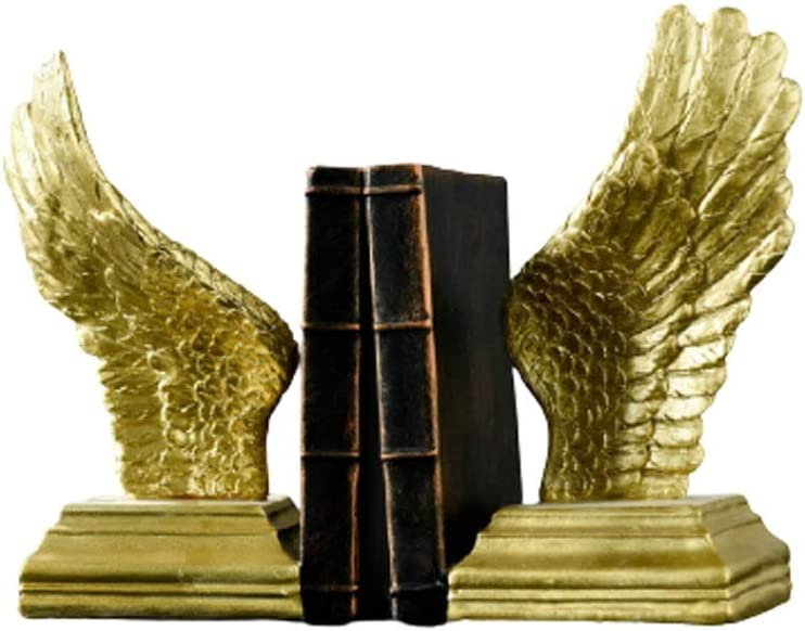 Ranking San Diego Mall TOP8 QIFFIY Book Ends Bookends Wing Resin Gold