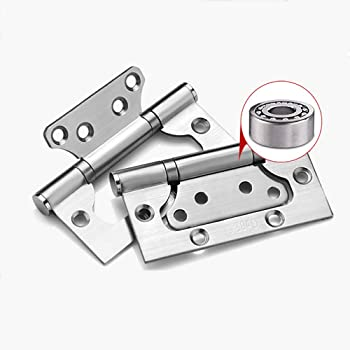 Slide Co 164240 Bi Fold Door Hinges 1 In X 3 In Plated Steel Satin Nickel Finish Non Mortise Installation Amazon Co Uk Diy Tools