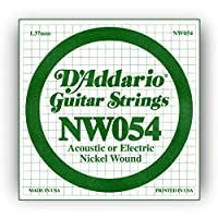 D'Addario ダダリオ エレキギター用バラ弦 ニッケル .054 NW054 【国内正規品】