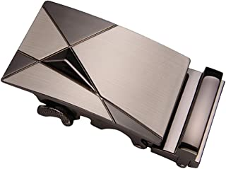 Baosity Durable Metal Alloy Ratchet Belt Buckle, Automatic Slide Buckle Replacement for Belt Strap 3.5cm