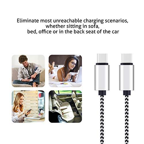 Ailun USB C auf USB C Kabel, 3 m, hohe Haltbarkeit, 3 A, USB Typ C Geräte, Aufladen für Galaxy S20, S20+, S20Ultra, S10, S8, S9 Plus, Note 10, 9, 8, Huawei Matebook, MacBook iPad Pro 2018 und mehr