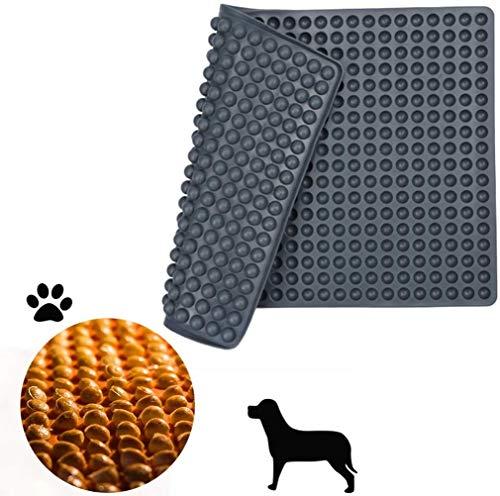 ROVE Silikon Backmatte 2cm Halbkugel Silikonmatte mit Noppen - 140er Backform für Hundekekse Hundeleckerlies Backpapier - Backunterlage - Pralinenform (Grau)