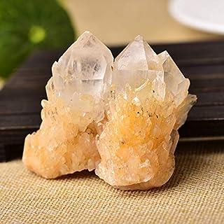 ZZLLFF Natural materias primas de Cuarzo Claro Blanco Racimo Piedras de Cristal Crystal Point Espécimen la decoración del hogar primas Cristales Minerales (Color : Twins, Size : 1PC)