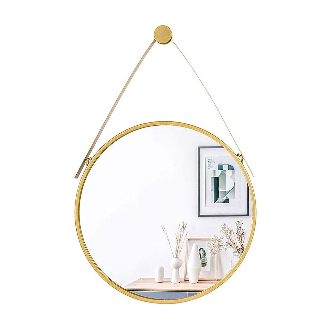 昆虫率直なセンサーミラーシンプルな化粧鏡壁掛け装飾HD虚栄心北欧スタイルプリンセスミラーパンチフリーガラスミラー (Color : GOLD, Size : 40*40CM)