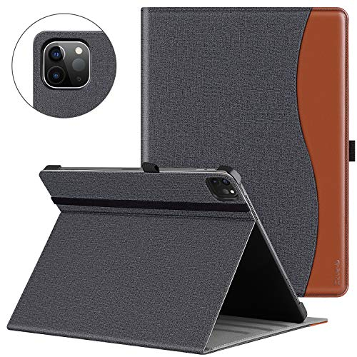 ZtotopCase Case for iPad Pro 11 2020 (2nd Generation) Premium Leather Lightweight Business Case with Stand Multi Angle Card Slot for iPad 11' 2020 - Denim Black